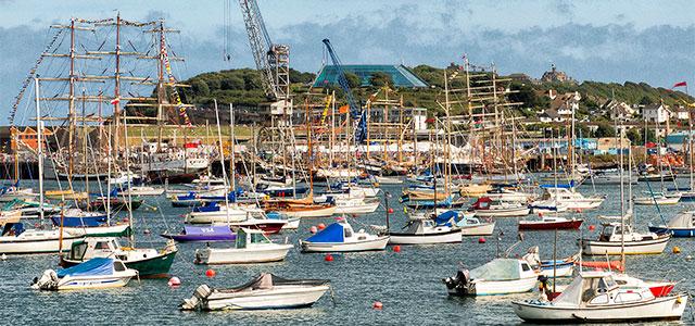 Kernow Blog - Falmouth Tall Ships 2014 photo 1-1 view across main docks © Keith Littlejohns