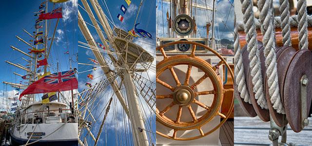 Kernow Blog - Falmouth Tall Ships 2014 photo Tenacious montage © Keith Littlejohns